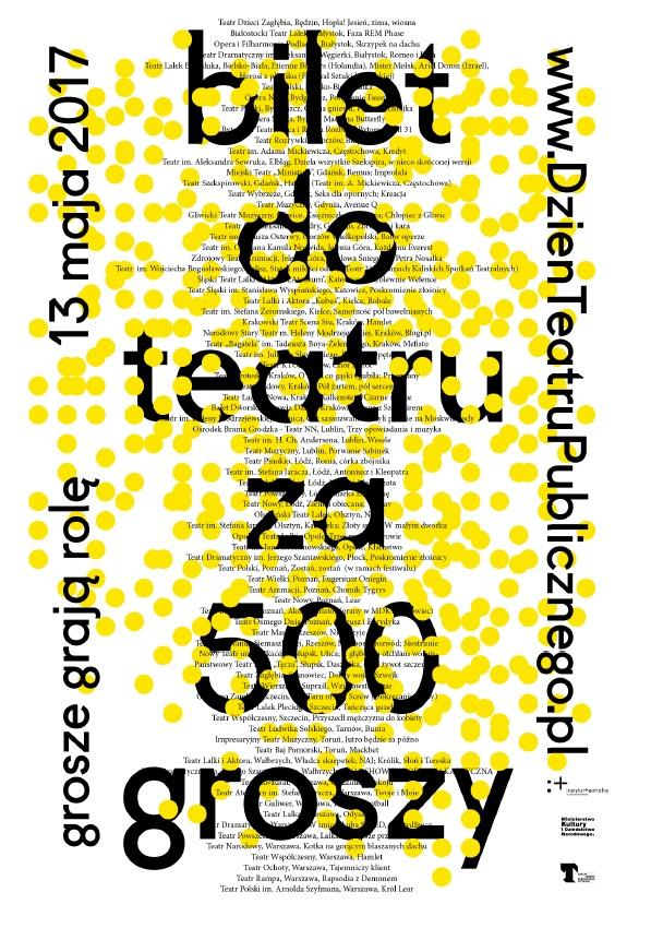 Bilet za 500 groszy [plakat ogół] - 1
